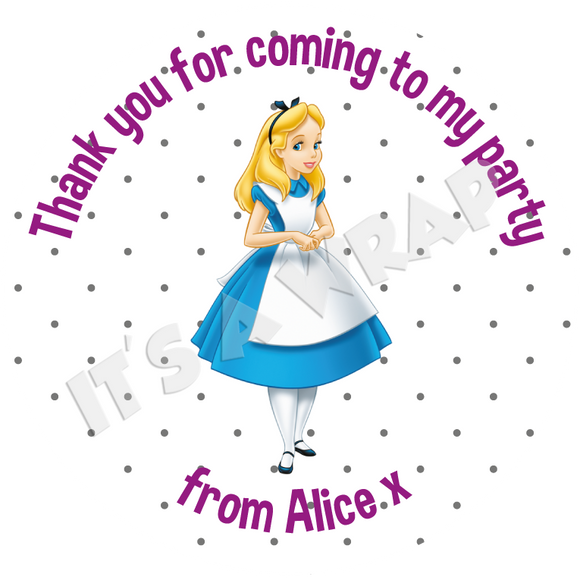 Alice in Wonderland Sweet Cone Stickers