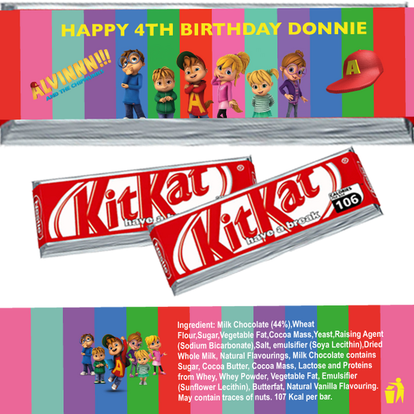Alvin & the Chipmunks KitKat Wrappers
