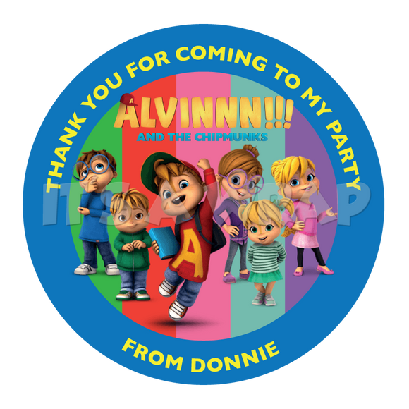 Alvin & The Chipmunks Sweet Cone Stickers