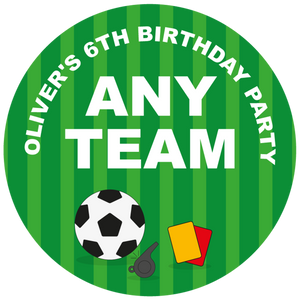 Football Any Team Party Box Stickers