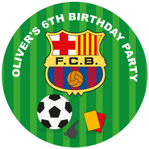 Barcelona FC Party Box Stickers