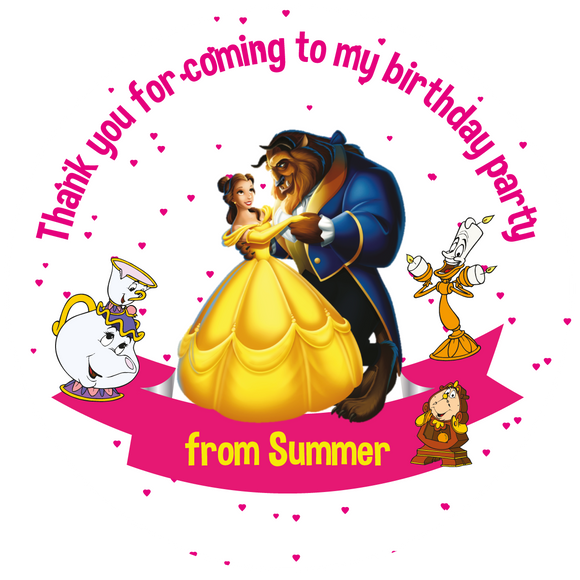 Beauty & the Beast Party Box Stickers