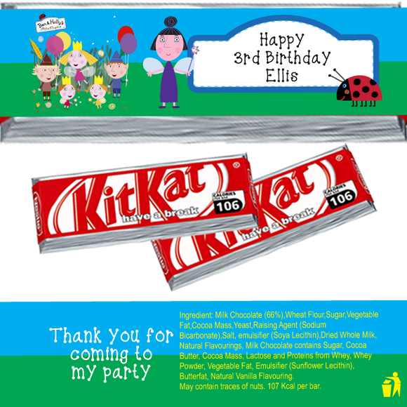 Ben & Holly KitKat Wrappers