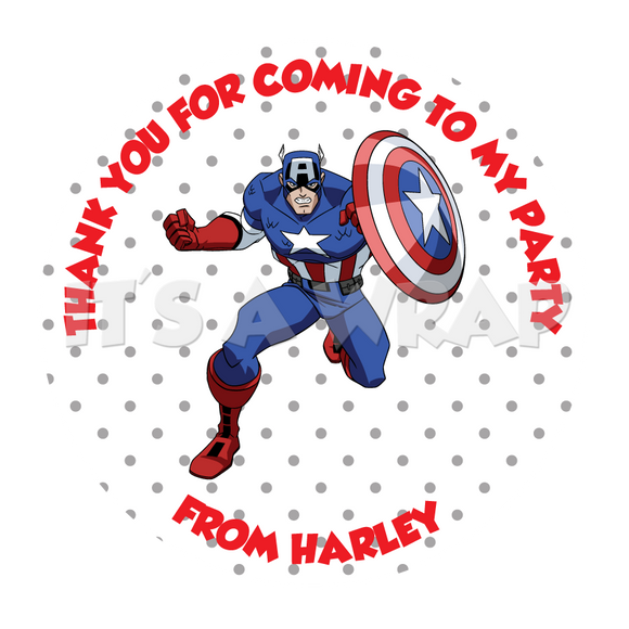 Captain America Sweet Cone Stickers