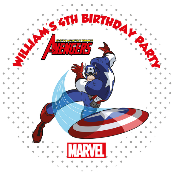 Captain America Party Box Stickers