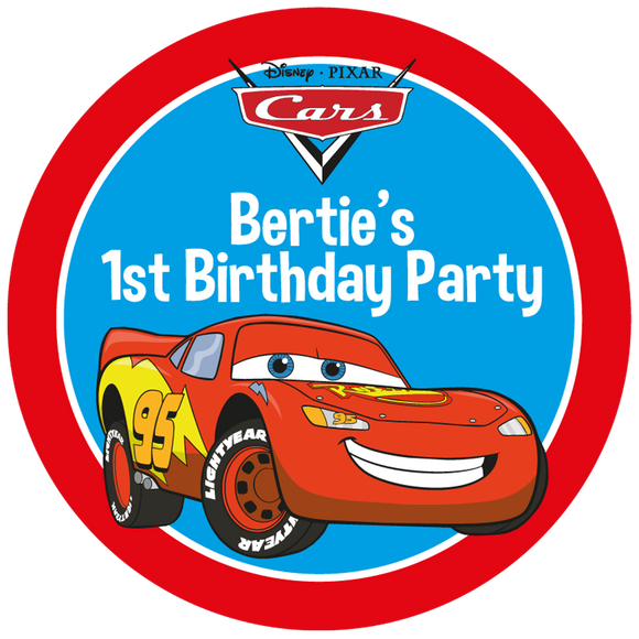 Cars Party Box Stickers