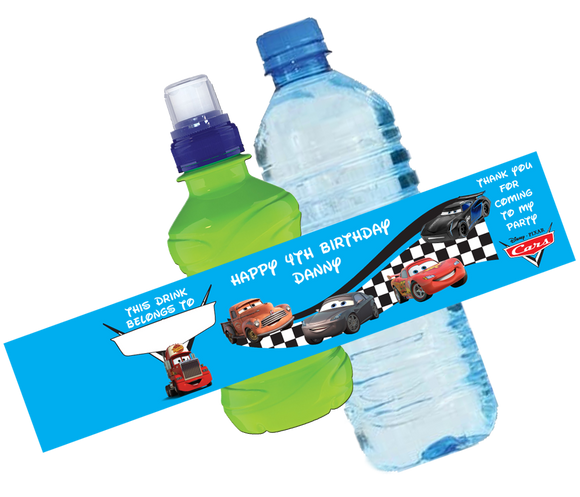 Cars Bottle Wrappers