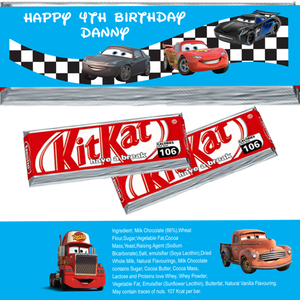 Cars KitKat Wrappers