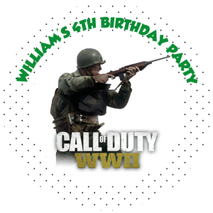Call of Duty Party Box Stickers