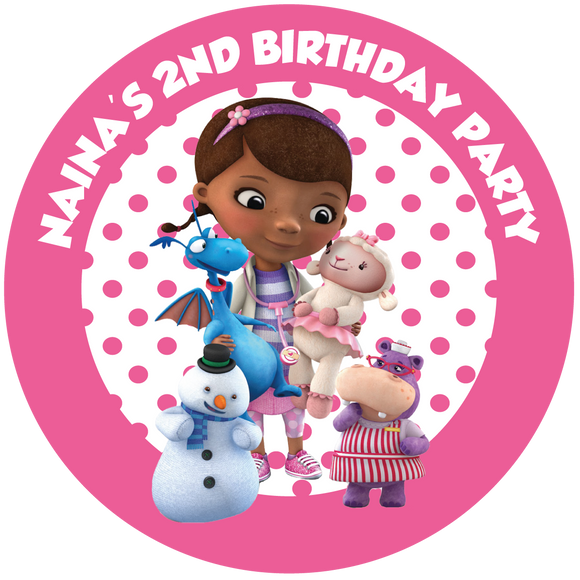 Doc McStuffins Party Box Stickers
