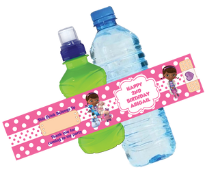 Doc McStuffins Bottle Wrappers