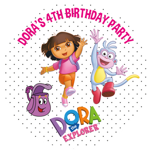 Dora the Explorer Party Box Stickers