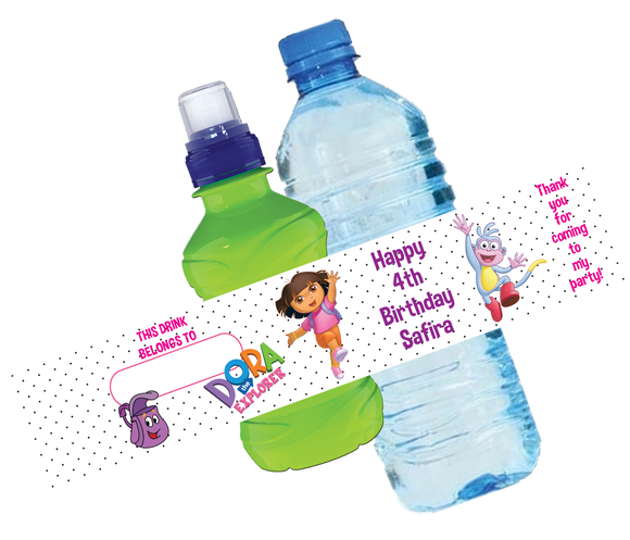 Dora the Explorer Bottle Wrappers