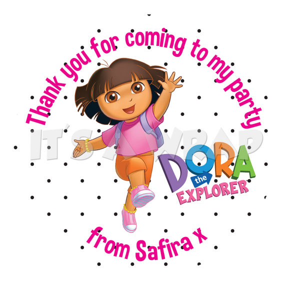 Dora The Explorer Sweet Cone Stickers
