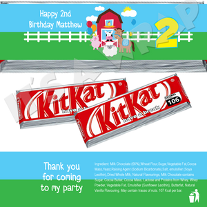 Farmhouse Fun KitKat Wrappers