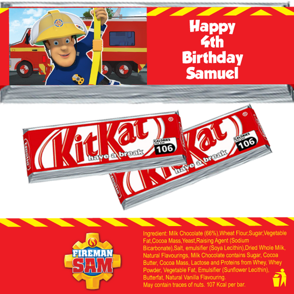 Fireman Sam KitKat Wrappers
