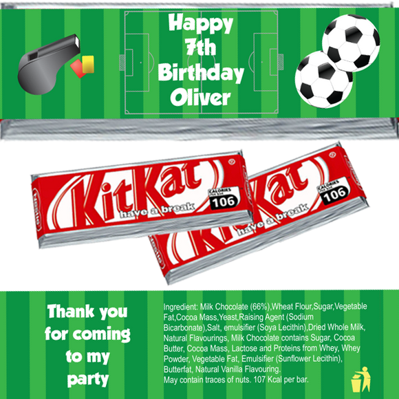 Football KitKat Wrappers