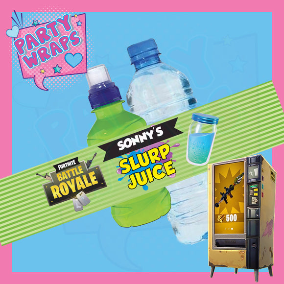 Fortnite Slurp Juice Bottle Wrappers