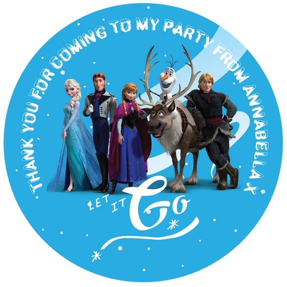 Frozen Party Box Stickers