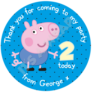 George Pig Sweet Cone Stickers