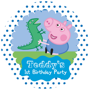 George Pig Party Box Stickers