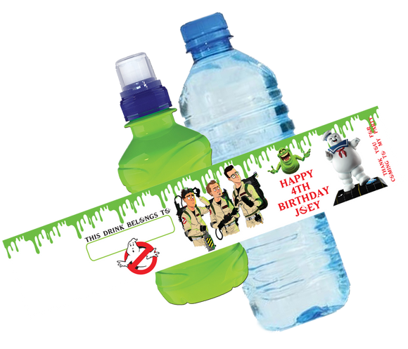 Ghostbusters Bottle Wrappers