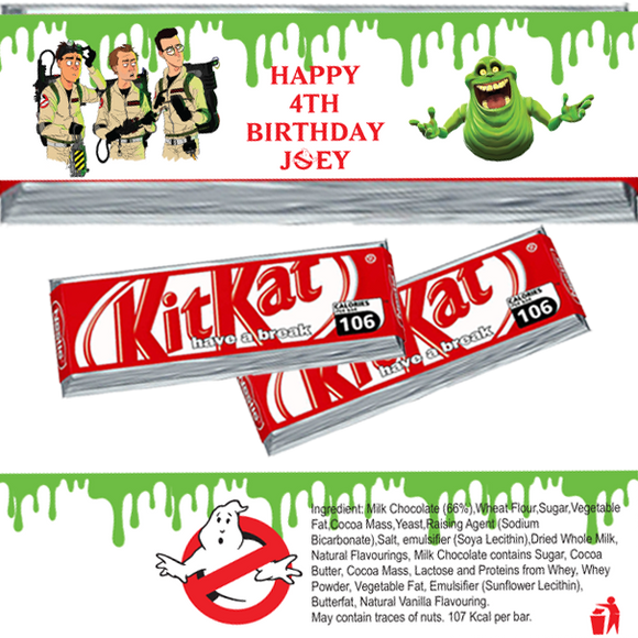 Ghostbusters KitKat Wrappers