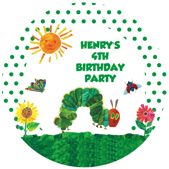 Hungry Caterpillar Party Box Stickers