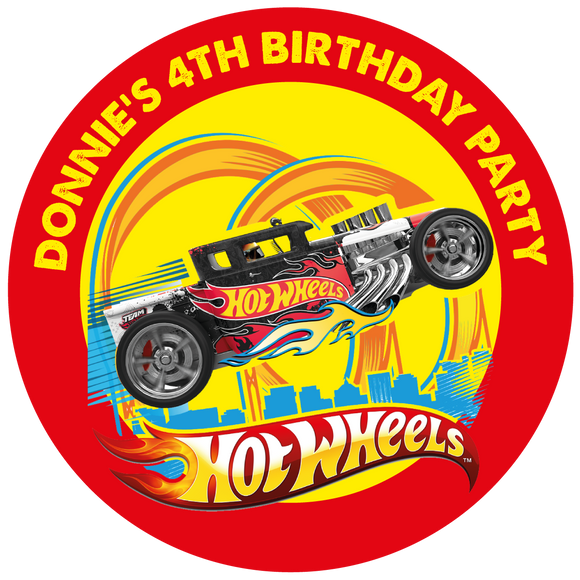 Hot Wheels Party Box Stickers