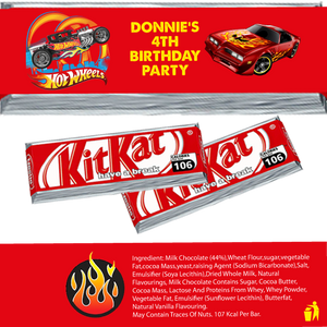 Hot Wheels KitKat Wrappers