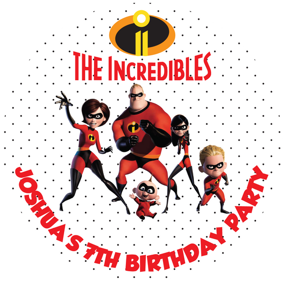 Incredibles Party Box Stickers