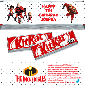 Incredibles KitKat Wrappers