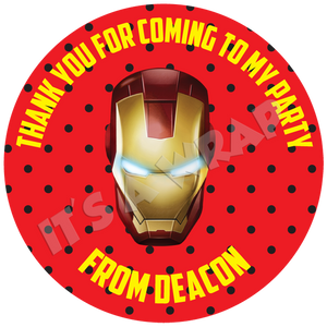 Iron Man Sweet Cone Stickers