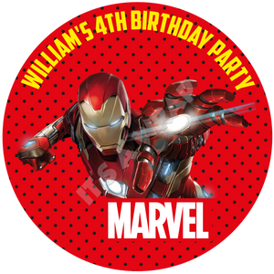 Iron Man Party Box Stickers