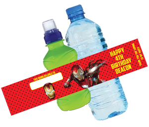 Iron Man Bottle Wrappers