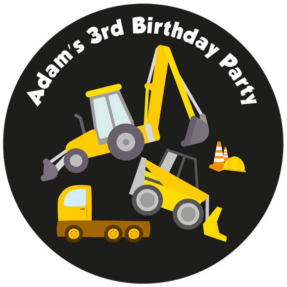 JCB Construction Party Box Stickers