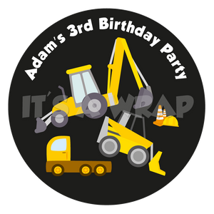 JCB Construction Sweet Cone Stickers