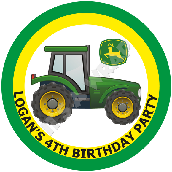 John Deere Tractor Party Box Stickers