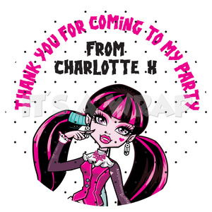 Monster High Sweet Cone Stickers