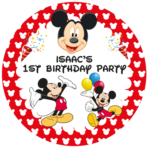 Mickey Mouse Party Box Stickers