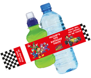 Mickey Mouse Roadsters Bottle Wrappers