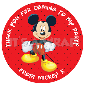 Mickey Mouse Sweet Cone Stickers