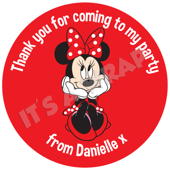 Minnie Mouse Sweet Cone Stickers