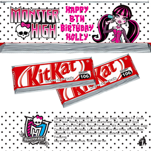 Monster High KitKat Wrappers