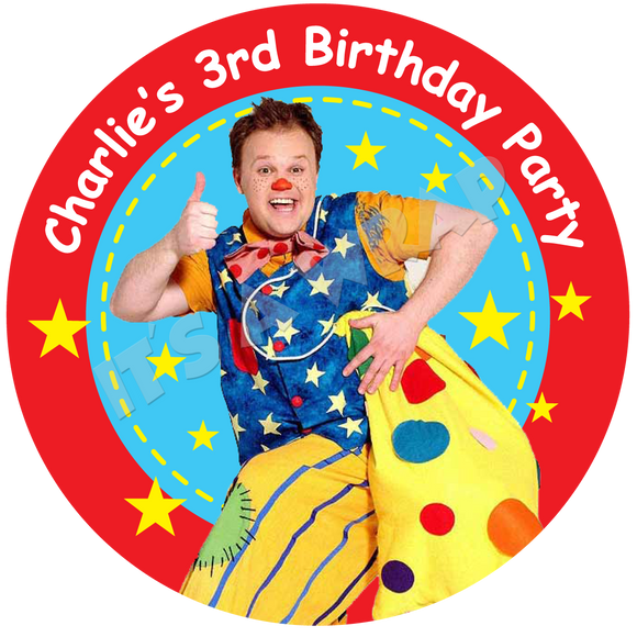 Mr Tumble Party Box Stickers