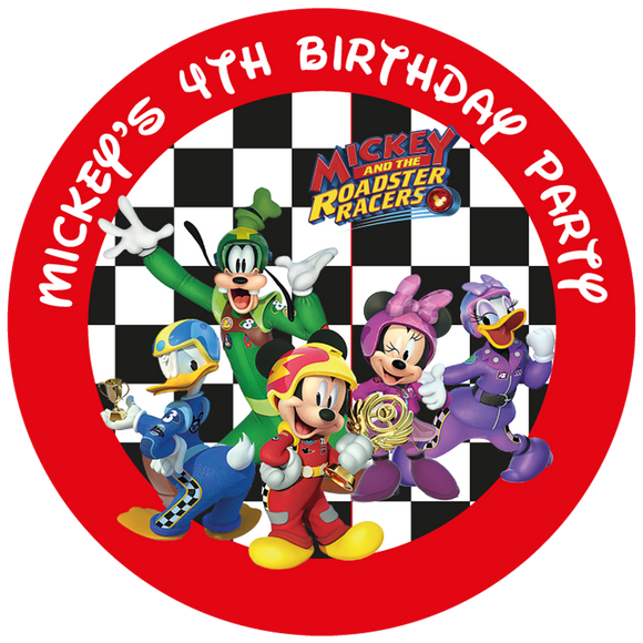Mickey Roadsters Party Box Stickers
