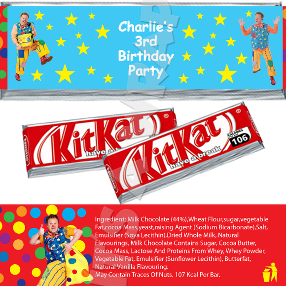 Mr Tumble KitKat Wrappers