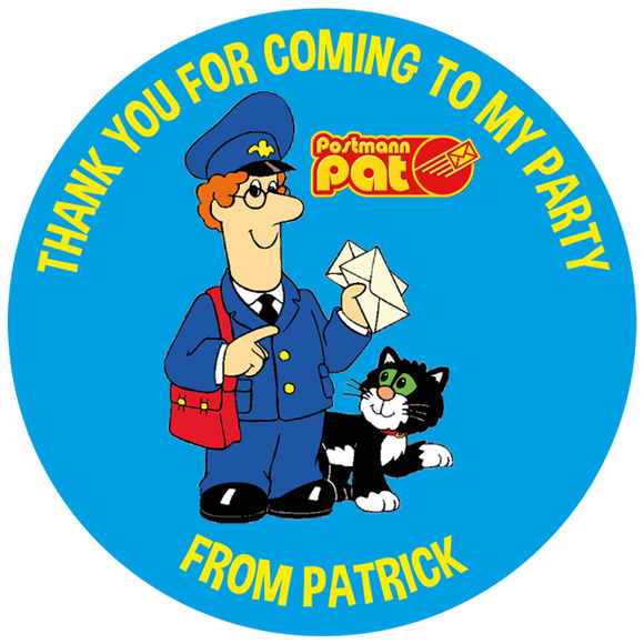 Postman Pat Party Box Stickers