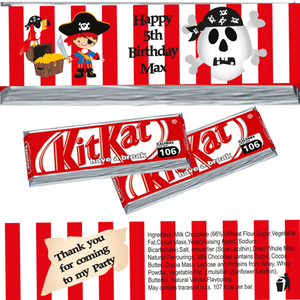 Pirate Themed KitKat Wrappers