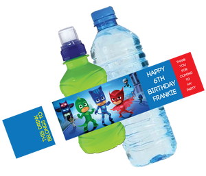 PJ Masks Bottle Wrappers